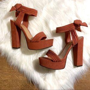 Chunky Platform Heels by Bamboo